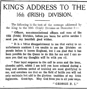 Irish Independent 15 January 1916