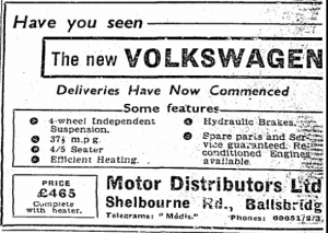 Volkswagen arrives