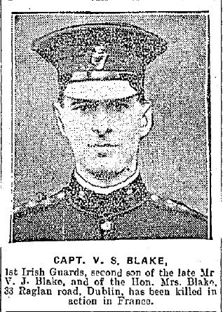 Captain V.S. Blake Killed in Action