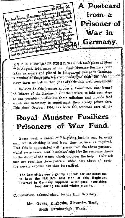 Irish Independent Munster Fusiliers War Fund