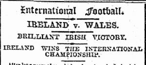 Kildare Observer Ireland Win triple Crown 1894