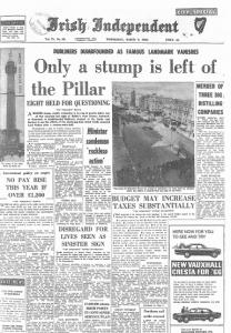 Irish Independent 09.03.1966 Nelsons Pillar stump