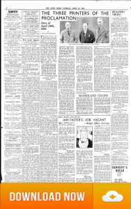 Irish Press 24 APRIL 1934