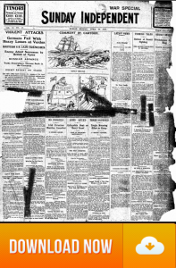 Sunday Independent April 23 1916 Thumbnail