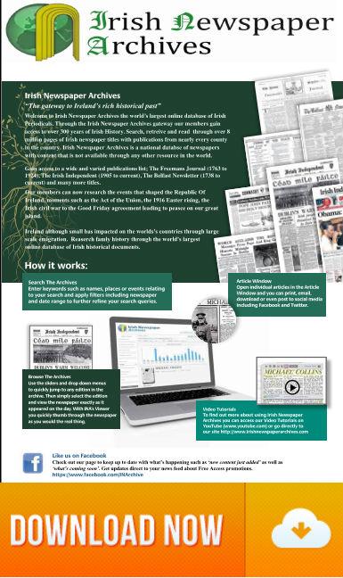 Irish Newspaper Online Library Catalogue