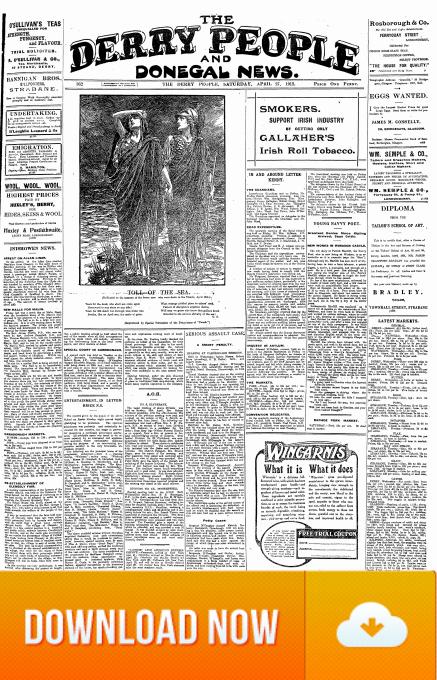 Derry People 27 April 1912 Titanic