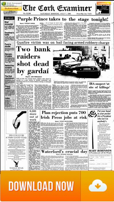 Cork Examiner 007 July 1990 - Prince concert