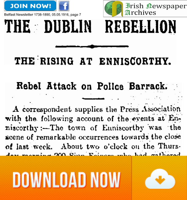 Enniscorthy Rising Belfast Newsletter article download