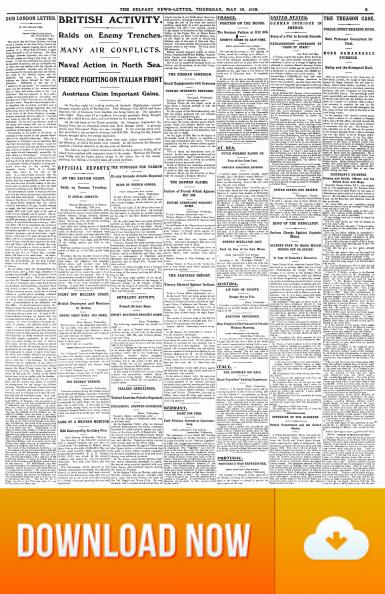 Belfast Newsletter 18 May 1916