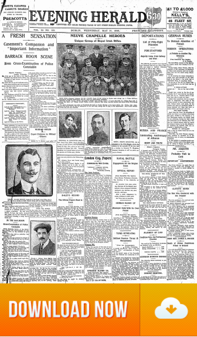 The Evening Herald 17.May.1916 Sir Roger Casement Trial