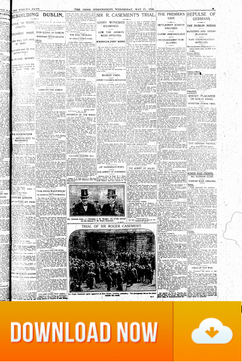 Irish Independent 17.May.1916 Trial of Sir Roger Casement