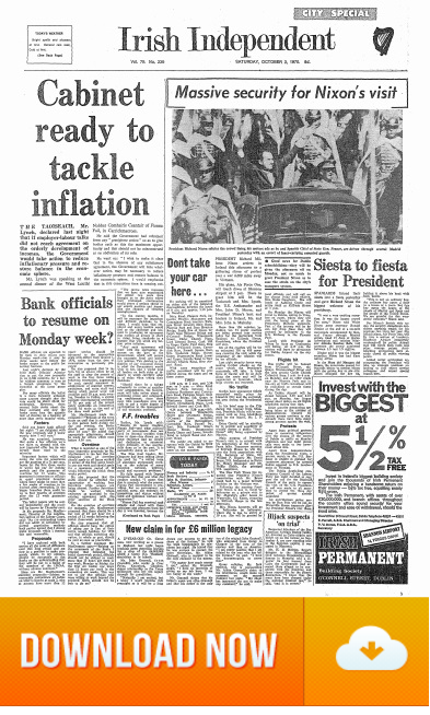 President Nixon Visits Ireland 03 October 1970