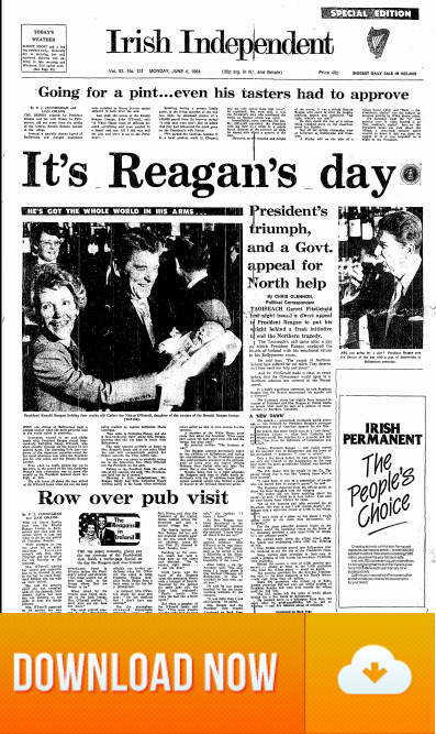 President Reagan Visits Ireland on the 04 June 1984