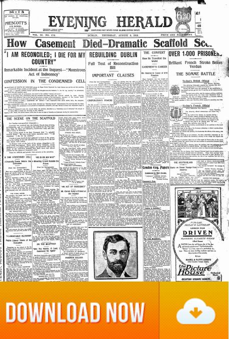 Evening Herald Casement Execution 03.08.1916