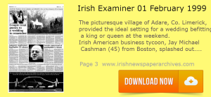 1999 - Irish American business tycoon, Jay Michael Cashman