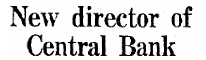 Irish Press 20th December 1958 TK Whitaker Central Bank Director