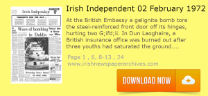 Irish Independent 2 FEBRUARY 1972 Dublin burning of British Embassy