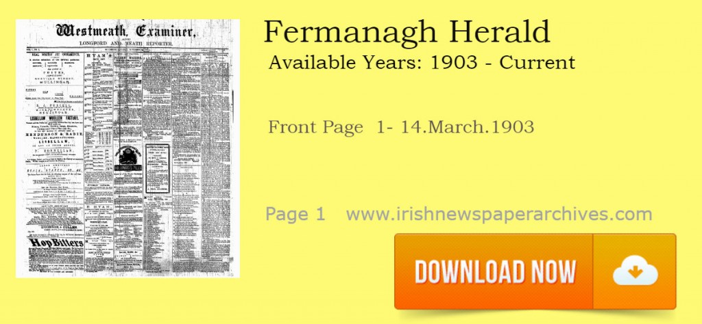 Fermanagh Herald newspaper download of first page