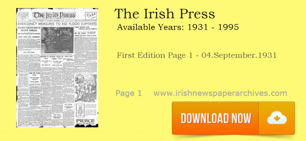 The Irish Press First Edition 04.September.1931