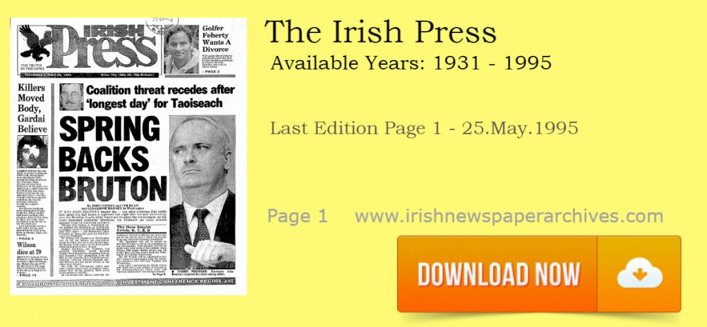 The Irish Press Newspaper Last Edition Download