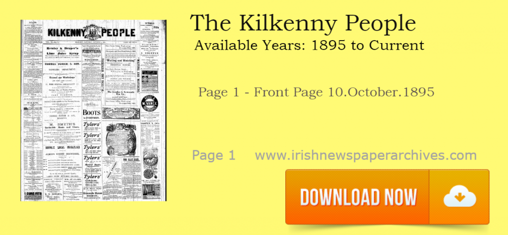 Kilkenny People 1895 Archive on Irish Newspaper Archives