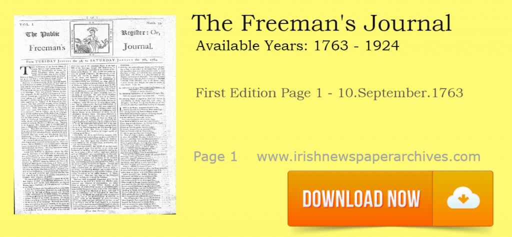 Freeman's Journal 10 Sep 1763