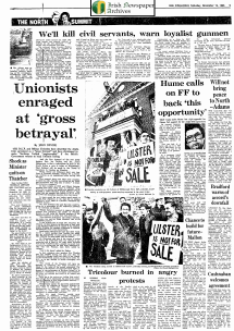 Irish Independent 16.November.1985