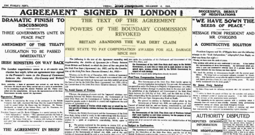 On this day in 1925 the Boundary Commission issued its final recommendations for the border between Northern Ireland