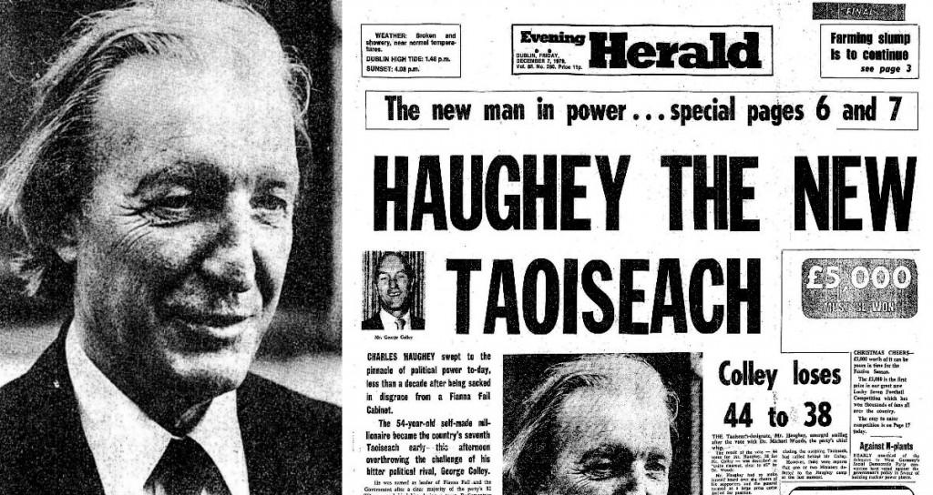 Charles Haughey Elected Leader @ www.irishnewsarchives.com