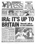 Irish Press 1931-1995 Thursday December 30 1993 pg 1 REDUCED