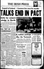 Irish Press Monday December 10 1973 Page 1 Sunnigndale Agreement
