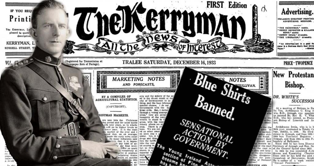 EOIN DUFFY BLUESHIRTS BANNED 16.DEC.1933 KERRYMAN