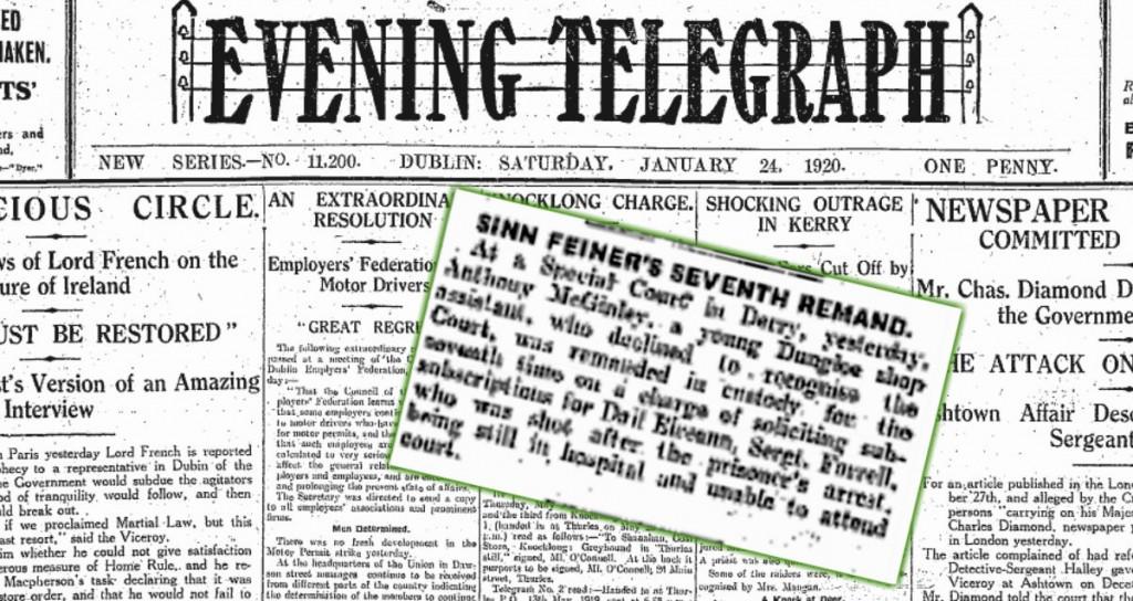 Sinn Feiner Remand 24.January.1920