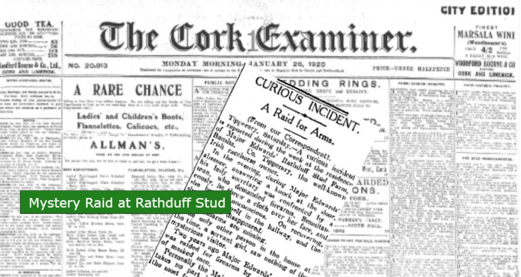 Major Edwards Rathduff Stud Mystery Raid