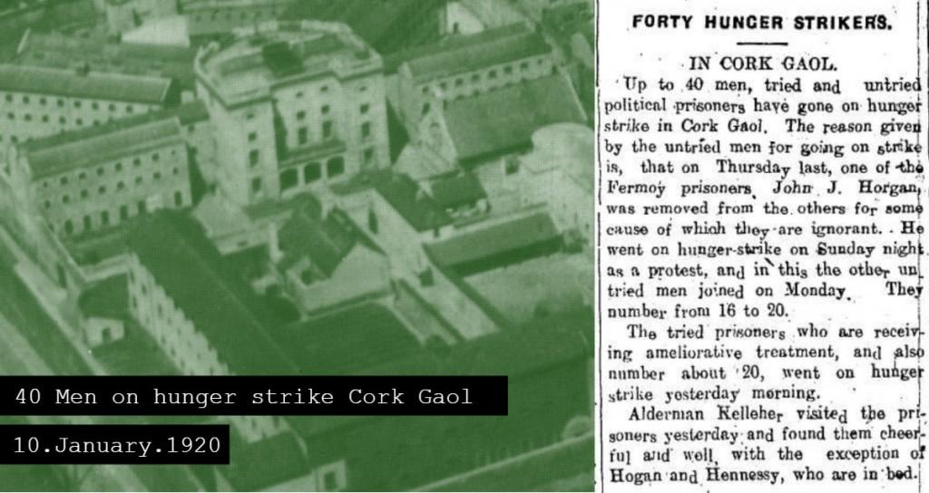 Cork Jail January 1920 Forty men on hunger strike
