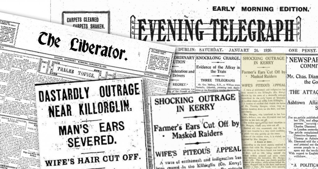 Archive 24 January 1920 Evening Telegraph Mans ear cut off