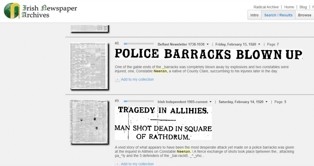 Aillihies Barracks Raid Michael Neenan Shot