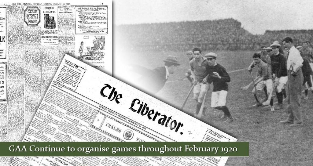 GAA Organise Games 1920 February