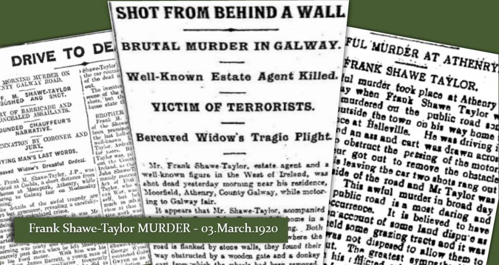 Frank Shawe-Taylor Murdered 03 March 1920