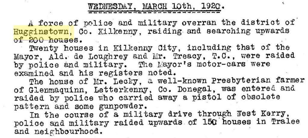 Irish war bulletin 12 March 1920 raids