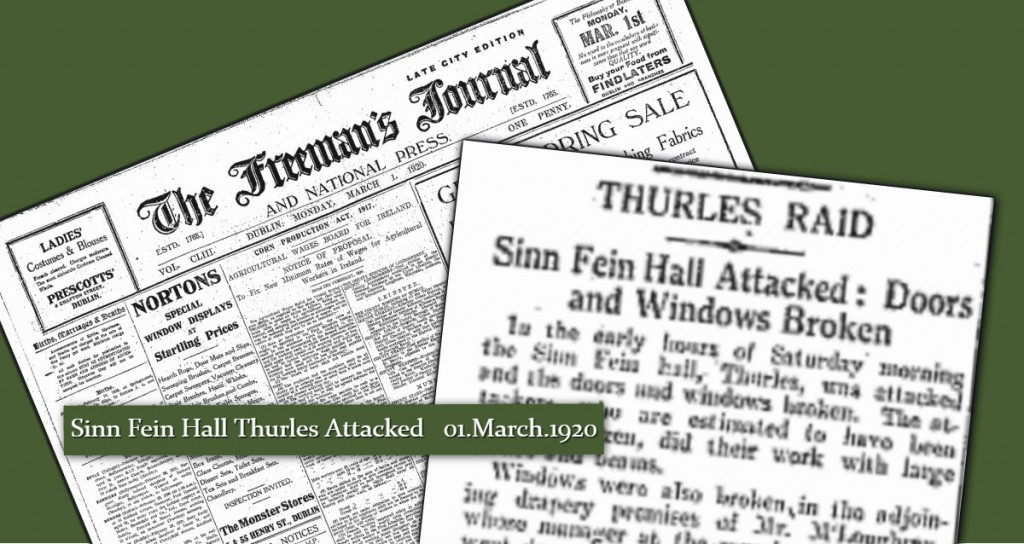 Sinn Fein Building Attacked 01 March 1920