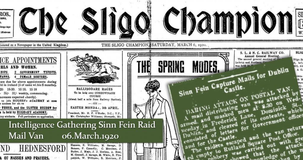 Sligo Champion Sinn Fein Raid Mail Van 06 March 1920