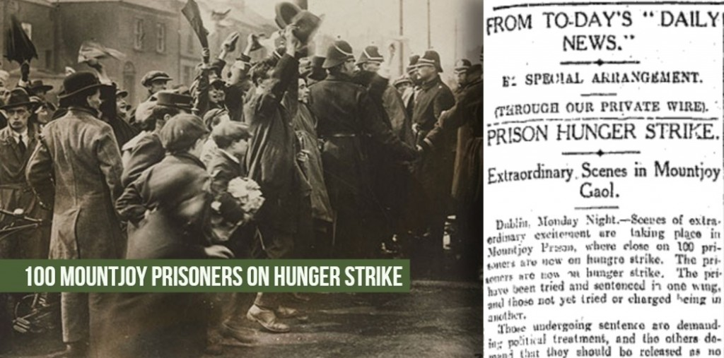 100 Mountjoy Prisoners on hunger strike 05.April.1920