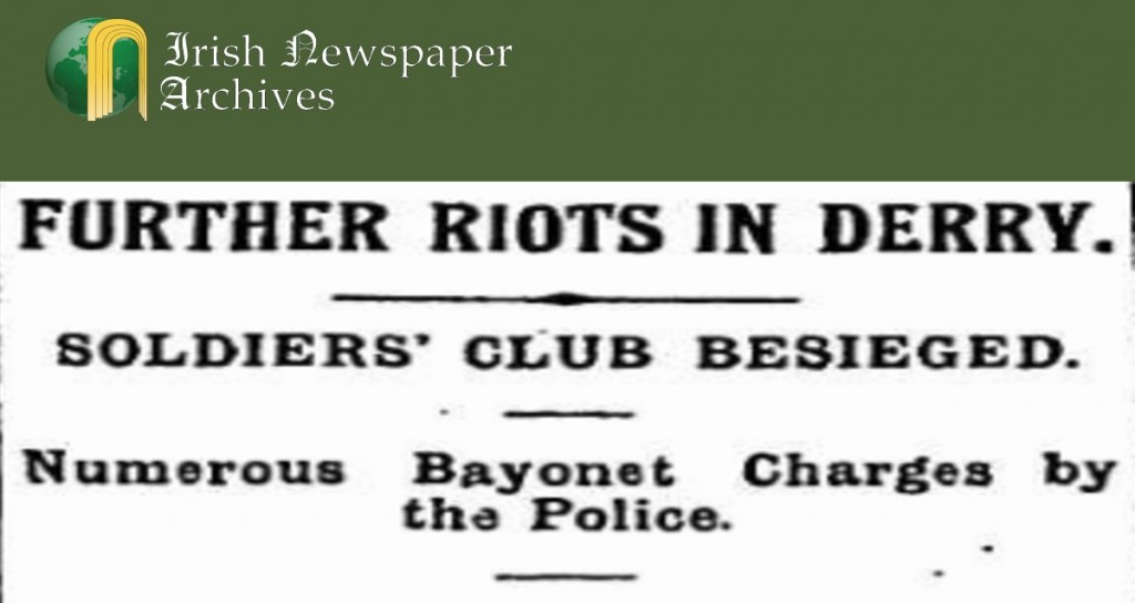 Riots Derry City Belfast Newsletter 19.April.1920