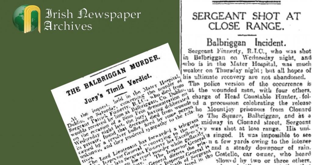 Sergeant Finnerty Shot Dead