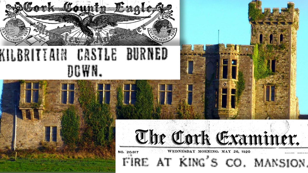 Irish War of Indepedence - Burning of Moorock House - 25.May.1920