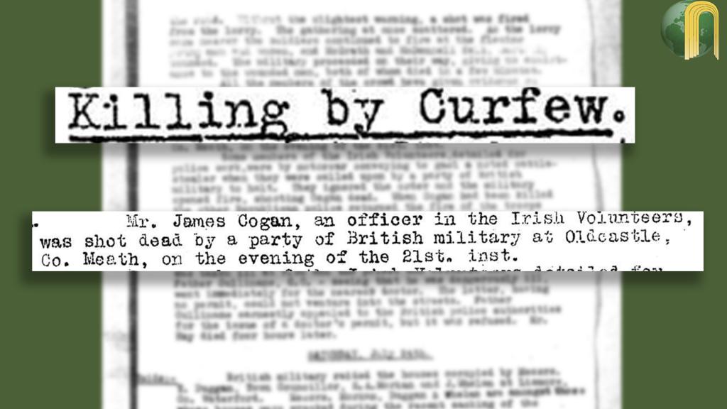Irish Volunteer Shot - July 1920