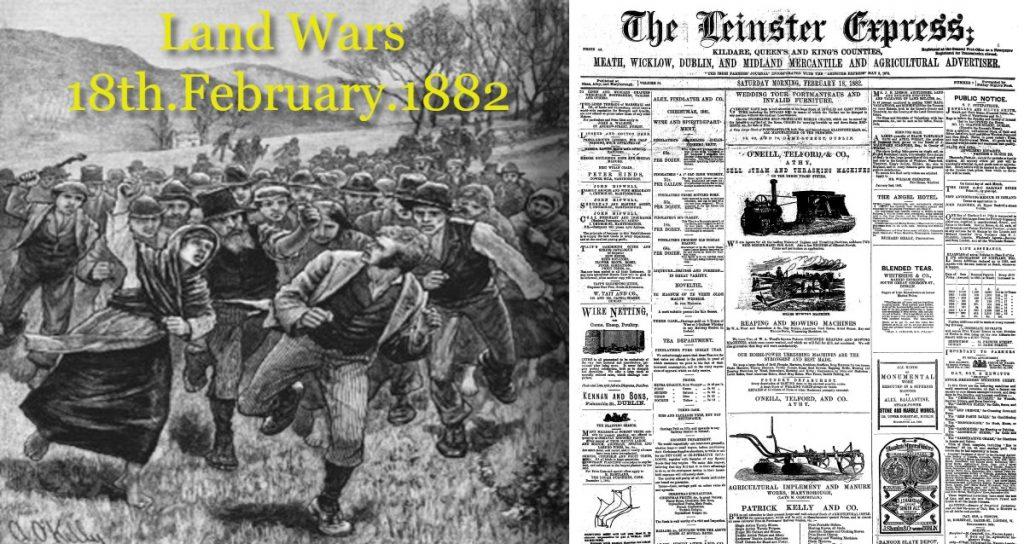 Land Wars Ireland 1882 Irish Newspaper Archives
