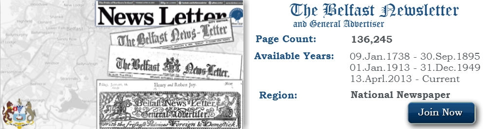 Search the Oldest printed newspaper Belfast Newsletter