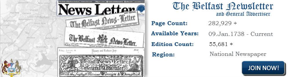 Belfast Newsletter archive header image